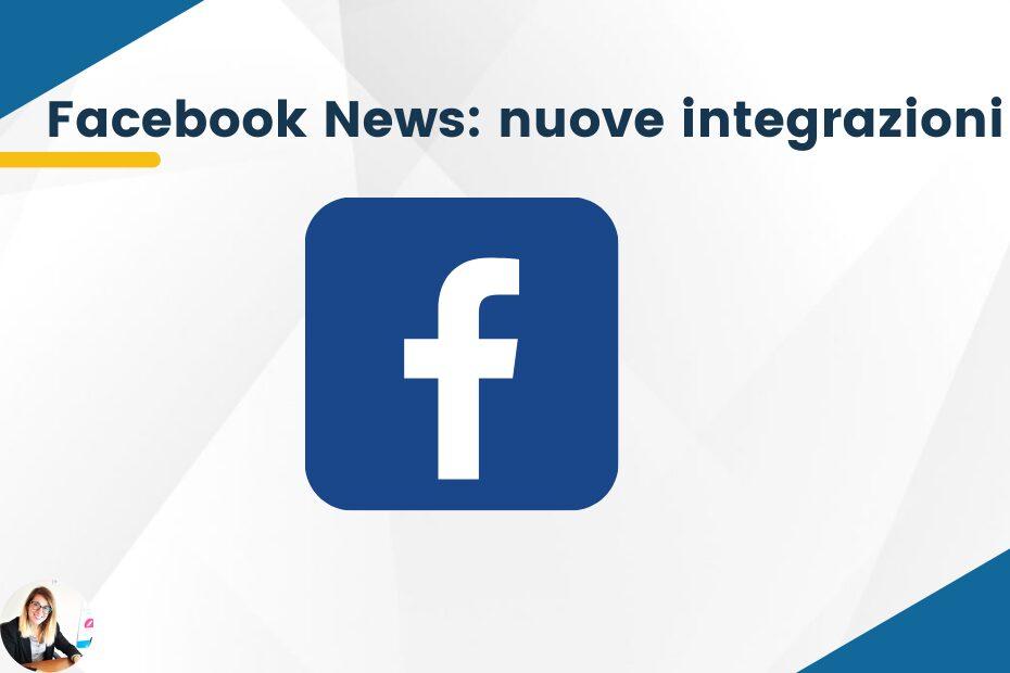 Facebook News nuove integrazioni per Instagram e Whatsapp